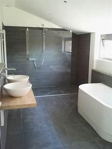 Badezimmer Graue Fliesen - 39 grey bathroom floor tiles ideas and pictures