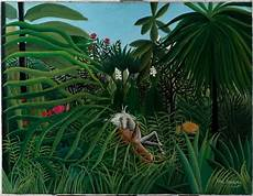 henri rousseau jaguar extraordinary collections of pushkin and hermitage now