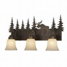 Lodge Bathroom Vanity Lights by Cabin Bathroom Lodge Vanity Lights