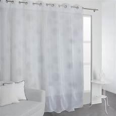 Voilage Transparent Grande Largeur Blanc L 300 X H 240