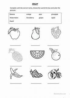 vocabulary fruit worksheet free esl printable worksheets