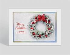 wintry wreath christmas thank you card 1028040 business christmas cards