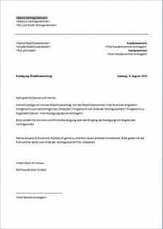 handy kündigung muster k 252 ndigung handyvertrag fristgerecht xobbu