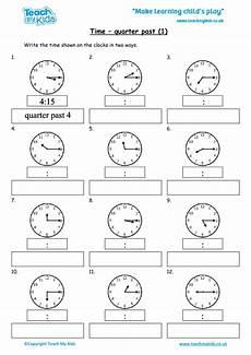 time worksheets ks1 quarter past 3066 time quarter past 1 tmk education
