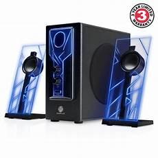 audio system subwoofer gaming glowing computer speakers desktop surround sound
