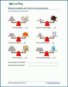 measurement worksheets k5 learning 1488 grade 2 weight worksheets measuring weights in kilograms k5 learning with images