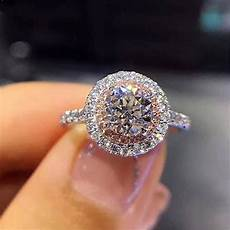 aliexpress com buy pink stone bridal wedding engagement rings jewellery silver