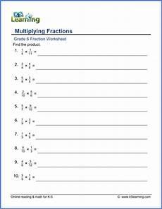 multiplication of fraction worksheet for grade 5 4221 grade 6 math worksheet fractions multiplying fractions denominators 2 12 k5 learning