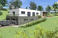 exemple maison moderne plan de maison contemporaine terrain pente caravelle vue