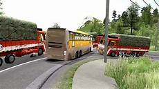 heavy load leyland lorry vs angry volvo driver
