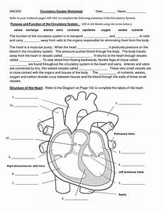 circulatory system worksheet image result for worksheet gaseous exchange biology circulatory system science