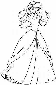 ariel as a human search disney coloring pages