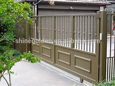 folding gate metal door frame double steel entry gyd