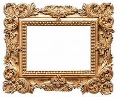 goldene bilderrahmen barock goldene bilderrahmen vintage art objekt stockfoto