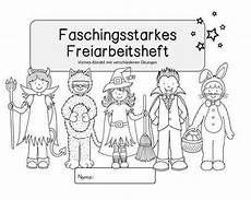 Malvorlagen Fasching Grundschule Ideenreise Faschingsstarkes Freiarbeitsheft