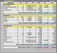 home building cost breakdown spreadsheet home construction cost estimate construction