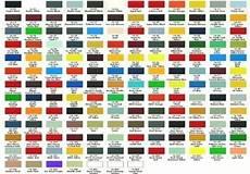 automotive paint color chart paintcolorselector