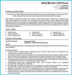 sle curriculum vitae for new nurses registered nurse cv exle