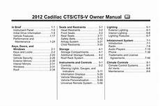 car owners manuals free downloads 2006 cadillac cts v instrument cluster cadillac cts 2012 owner s manual pdf online download