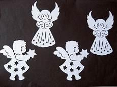 fensterbild filigran tonkarton 4 engel weihnachten