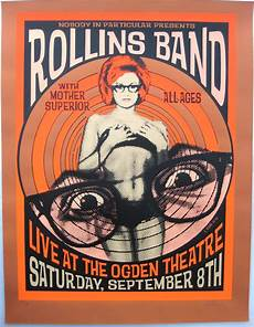 rollins band poster w mother superior 2001 concert