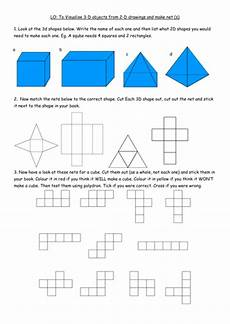 y4 b3 worksheet visualising 3d shapes make nets by clangercrazy teaching resources tes