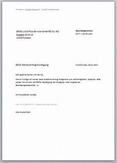 handy kündigung muster handyvertrag k 252 ndigungschreiben kostenlose vorlagen