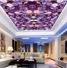 flower wallpaper ceiling purple flower ceiling wallpaper for living room 3d