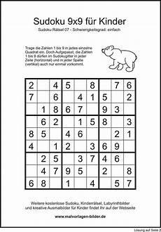 Kinder Malvorlagen Sudoku Kinder Sudoku 9x9 Einfache Version Mit L 246 Sung Sudoku