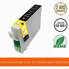 Cartouche Epson Pomme T1291 Jet D Encre Noir Compatible