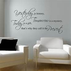 wall sticker decal quotes yesterday wall sticker wall quotes wall stickers