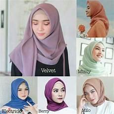 Jilbab Segi Empat Square Kerudung Tidak Licin Bahan