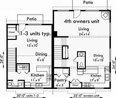 4 plex house plans main floor plan for f 551 4 plex plans fourplex with