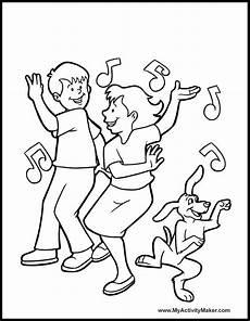 ausmalbilder tanzende kinder kinder ausmalbilder