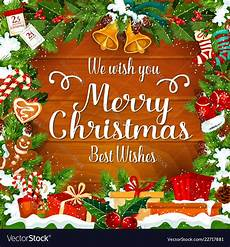 merry christmas wishes greeting card royalty free vector
