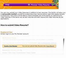 monster allows uploading of video resumes