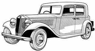 1928 Ford Model A Coloring Page  Free Printable