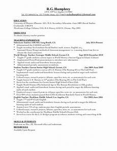 history teacher resume