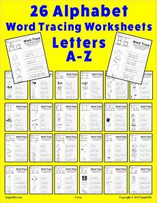 tracing paper worksheets 15649 26 alphabet word tracing worksheets supplyme