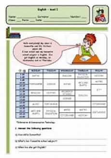 english teaching worksheets my timetable
