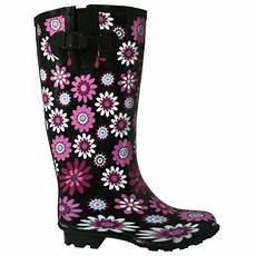 Gummistiefel Mit Blumen - neu damen gummistiefel regenstiefel blumen breiter schaft