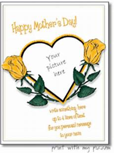 mothers day photo card templates free printable s day picture frames s day card