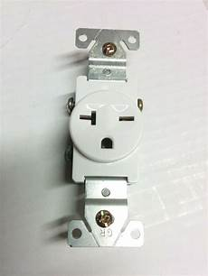 10 pc single receptacle 20 20a 250v ac outlet 2 pole 3 wire white ebay