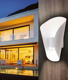 exterior curled led up and down wall light