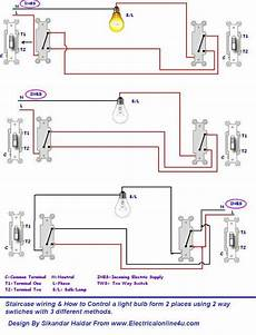 3 different method of staircase wiring with diagram and complete staircase circuit guide