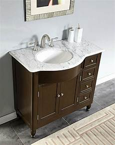 Bathroom Sink Cabinets Marble by 38 Quot Furniture Bathroom Vanity White Marble Top Left Sink