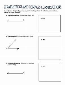 straightedge and compass constructions worksheet by mathy tpt