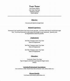 46 blank resume templates doc pdf free premium