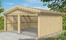 garage aus holz bauen holzgaragen baus 228 tze blockbohlen garagen holzkomplett de