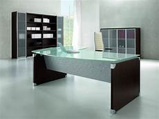 glass home office furniture nexa glass glass executive desk with return tag office